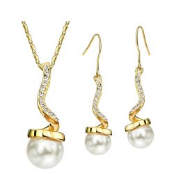 Necklaces Earrings Austria Rhinestone Simulated Pearl For Women