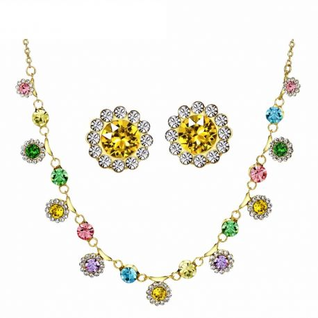 MADE WITH SWAROVSKI ELEMENTS Rhinestones Colorful Jewelry Sets For Women