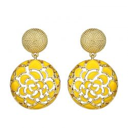 Enamel Statement Drop Dangle Earrings For Women