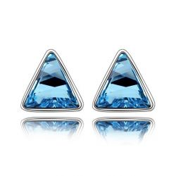 Triangle Geometric Shape Crystals from Swarovski ® Stud Earrings for Women