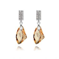Dangle Luxury Crystals from SWAROSVSKI ®  Rhodium plated  Earring for Women