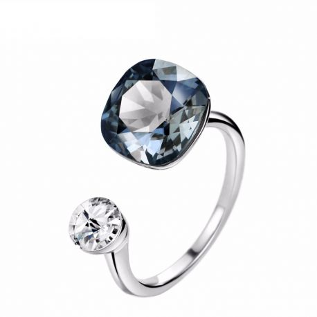 69ecead72fce MADE WITH SWAROVSKI ELEMENTS Crystals Rings Silver Color Wedding Rings  Gifts For Women