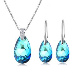 Water Drop Shinning Crystals from Swarovski ® Hook Earrings Pendant for Women