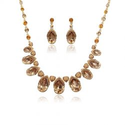 Wedding luxury Crystals from Swarovski ®  necklace earring set