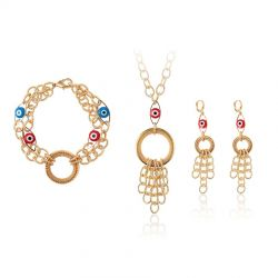 Evil Eye Metallic Fashion Jewelry set for Women