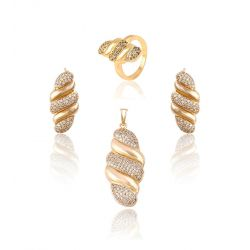 18K Gold toned Fashion Jewelry set for Women