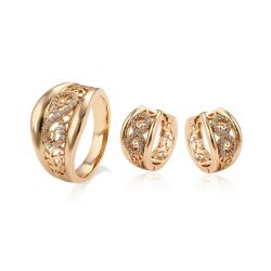 18K gold toned Cubic zircon  Fashion jewelry set for women