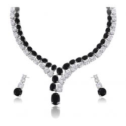 Rhodium plated High Quality Big Zircon Set for women Christmas Party