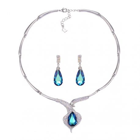 Luxury Big Crystals from Swarovski ® Beautiful Jewelrys set for Women