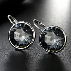Flower Heart shape Crystals from Swarovski Rhodium plated jewelry