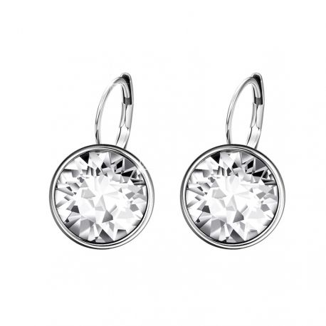 Bella Pierced Earrings Original Crystals from Swarovski ® Rhodium  Plated
