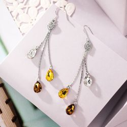 AAAA+ Shining High Grade Zircon Rhodium plated Jewelry