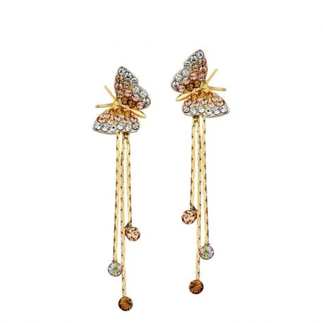 Butterfly Earring for Girls Original Crystals from Swarovski