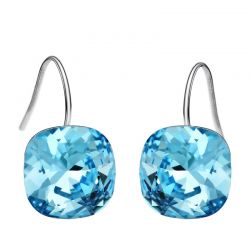 Aqua Blue Original Crystals from Swarovski ® Sterling silver Earring