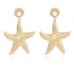 Sea Star shape Gold toned Metal Earring