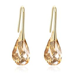 AB and Golden shadow Original Crystals from Swarovski ® Hook Earrings