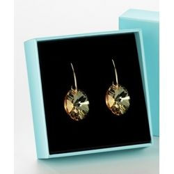 24K Gold toned and Sliver toned Snowflakes Metal earring for Girls