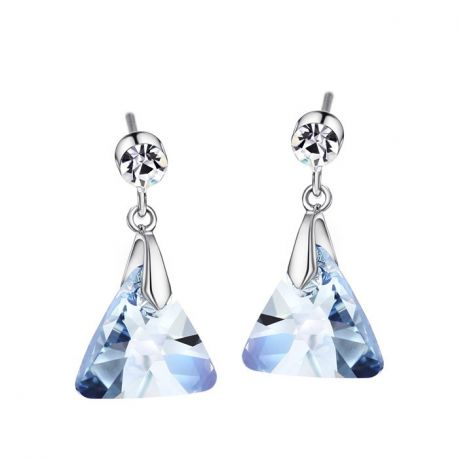 Triangle Crystals from Swarovski ® Dangle Earrings for Girls