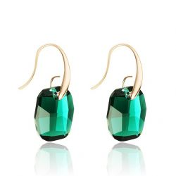 Green Crystals from Swarovski ® Dangle Earrings