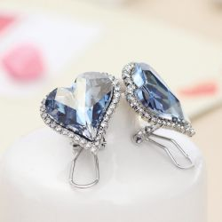 Crystal Drop Earrings for Women Female Multicolor Rhinestone Jewelry