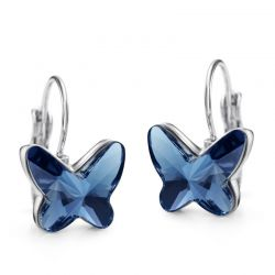 3 colors Beautiful Butterfly  Crystals from Swarovski ® Earring for Women
