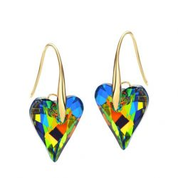 Crystals From Swarovski Multicolor Hook Earrings for Women