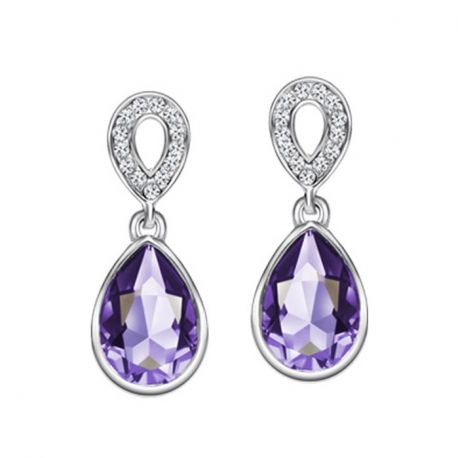 Classic Water Drop Austria Crystal & Czech Rhinestone  Earrings