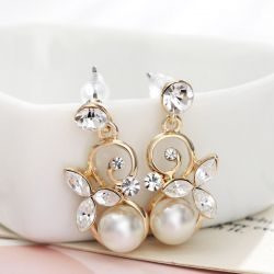 8-9mm Freshwater Pearl Earrings 4 Color Earrings To Women Gifts