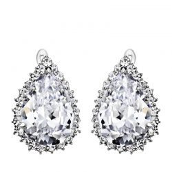 Waterdrop shape Zircon Rhinestone  Earrings