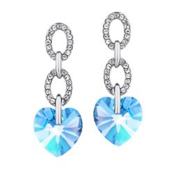 Love Heart Austria Crystal & Auden Rhinestone Dangle Earrings