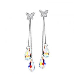 Transparent Crystal Butterfly Fashion Earrings For Women 2019