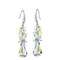 Embellished with Crystals from Swarovski Dangle Earrings For Women
