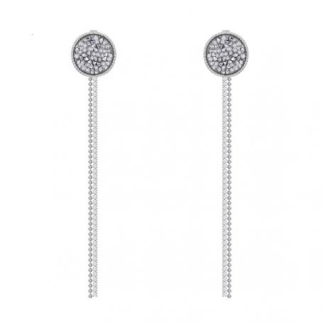 Silver Pin Original Pave Crystals from Swarovski Earring