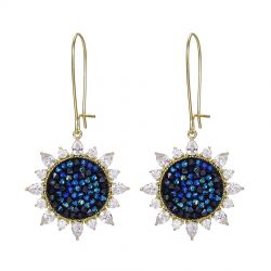 Original Pave Crystals from Swarovski Hook Dangle Flower earring