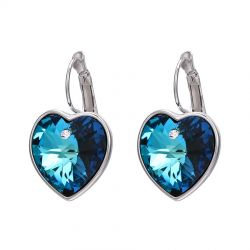 Love Symbol blue Crystals from Swarovski Earring  earrings
