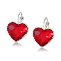 Red Heart Original Crystals from Swarovski Earring for Women