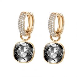 Gold Plated Crystals from Swarovski Square Earring