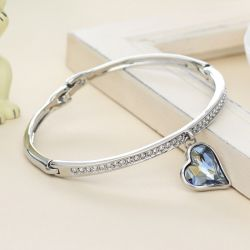 925 Sterling Silver Love Forever Love Snake Chain Bracelets for  Women