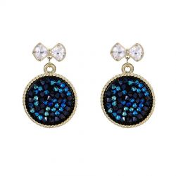 Round dangle earring  Original Pave Crystals from Swarovski