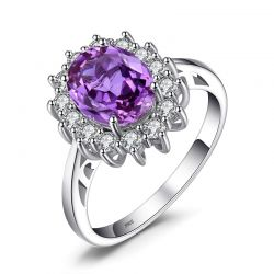 Created Alexandrite Sapphire 925 Sterling Silver Rings for Women