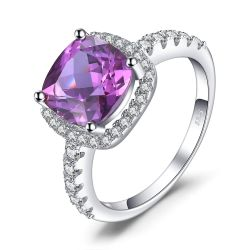 5ct Created Alexandrite Sapphire Ring 925 Sterling Silver