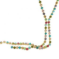 Austrain Crystal Colorful Long Chain Necklaces for Women