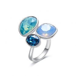 Original Opal Crystals from Swarovski  Cocktail Free  size Ring