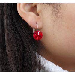 18K Gold toned Red Original Crystals from Swarovski Earring