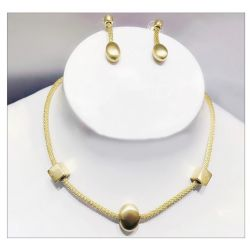 Gold and Silver toned Drop Dangle Earrings Necklace  Jewelry Sets