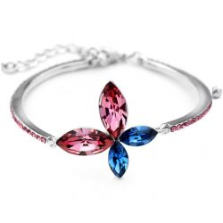 Butterfly Flower fashion Jewelry Austrian Crystal Bangles & Bracelets