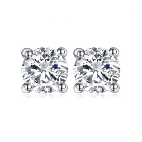1ct Simulated Diamond CZ Stud Earrings 925 Sterling Silver Earrings for Women