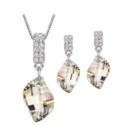 Embellished With Crystals From Swarovski Necklace & Earrings  set