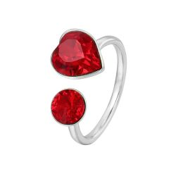 Unconditional Love heart Ring for Girls  Original Crystals from Swarovski