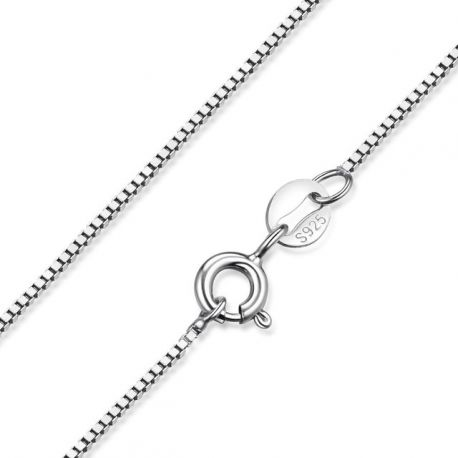 Platinum plated  Solid Sterling Silver Chain